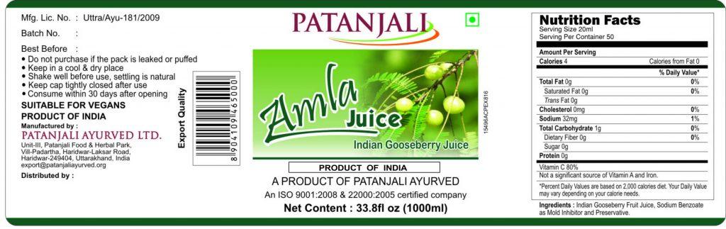 Amla Juice-1000ml (13.12.18) Final